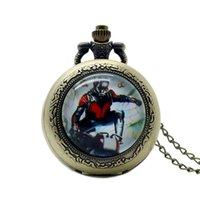 ingrosso tasche fortunate-Orologio da taschino in ottone con logo tradizionale di Tai Chi con collana a catena Lucky for Men Women