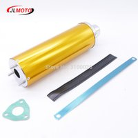 Wholesale Exhaust For Scooter - Muffler Exhaust Pipe Fit For China ATV 49cc 150cc 110cc 125cc 70cc 50cc UTV Kids Go Kart Scooter Motorcycle Quad Bike Parts