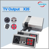 Wholesale Gaming Consoles - 20pcs Wholesale New Mini TV Video Handheld Game Console Portable Gaming Consoles for Gameboy Model for Nes 500 620 Games dhl YX-NES-01