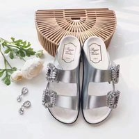Wholesale classic room design - Diamond Sandals Roger Original Quality Classic Brand Dual Design Slippers Causal Slide Huaraches Flip Flops Loafers by Free Shipping
