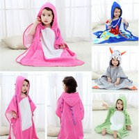 Wholesale pink nightgowns for sale - Baby cartoon animal bathrobe Kids Hooded bath tow Robes dinosaur model Nightgown Childrene home clothing AAA1365