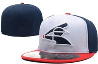 Wholesale nationals baseball - National Team Fitted White Sox hats Baseball Embroidered Team Letter Flat Brim Hats Baseball Size Caps Sports Chapeu for men women