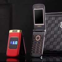 Wholesale big keyboard phones for sale - Group buy Luxury Flip inch Double touch Screen Metal Body Dual SIM Card MP3 FM Gold cellphone Big keyboard letter loudly speaker mobile cell phone
