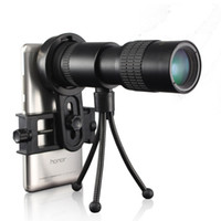 ingrosso spotting scope-10-30x30 Zoom Telescopio monoculare per cellulare High Power Mini Outdoor Caccia Spotting Portable con clip telefono