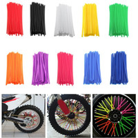 Wholesale dirt bike wheels resale online - 108pcs Motorcycle Wheel Spoked Wraps Skins Covers Motocross Dirtbike Dirt Bike Cool Accessories Rims Skins Covers Guard Protector
