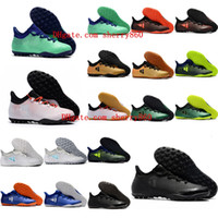 Wholesale ground yellow - 2018 top quality new arrival mens soccer cleats X Tango 17.3 TF soccer shoes indoor soft ground football boots cheap tango x zapatos futbol
