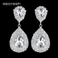 Dependable Mecresh Luxury Statement Wedding Tassel Earring Big Crystal Bridal Earring Engagement & Wedding Bridal & Wedding Party Jewelry