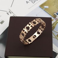 Wholesale woman ch - 2017 Hollow Bangle women in 5.8*4.8cm jewelry in 1cm width Top quality 316L Titanium steel punk bangle CH Wedding jewelry