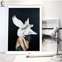 Wholesale Posters For Girls - Cuadros Posters And Prints Pigeon Wall Art Canvas Painting Pictures For Living Room Nordic Girl Home Decoration