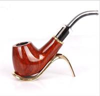Wholesale red sandalwood carving resale online - New Cigarette Sets Red Sandalwood Carved White Tail Filter Men s Portable Cigarettes