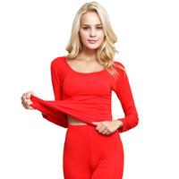 conjuntos de ropa interior térmica de las mujeres al por mayor-Long Johns Ropa interior térmica del invierno establece la marca de fábrica de las mujeres Anti-microbial Stretch Thermo Underwear Women modal caliente