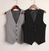kore resmi elbise stili toptan satış-Bayan Kore Style İnce Resmi Elbise Suit Kolsuz Yelek Ceket Yelek