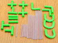 ingrosso paglia flessibile di plastica-Cannucce Fai da te flessibile Raccordabile Succhiare Cannucce Tubi Puzzle Giocattolo per divertimento Bevande per feste Accessori per bar in plastica
