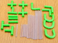 flexibles plastikstroh großhandel-Trinkhalme Flexible Diy Connectible Saughalme Rohre Puzzle Spielzeug für Fun Party Getränke Kunststoff Bar Zubehör