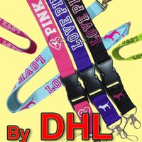 Wholesale Key Clasps - 2018 Fashion Love Pink Lanyard For Cell Phone, Keys, ID Card, With Detachable clip clasp breakaway, Multi Colors, Ship By DHL