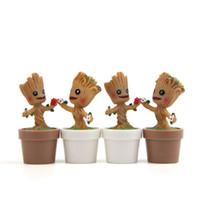 мини-куклы для мужчин оптовых-Q версия дерево человек игрушка Стражи Галактики Грут мини милая модель игрушки фигурки мультфильм ландшафтный дизайн куклы 6 5yr W