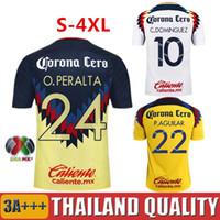 Wholesale Men America - TOP Quality 2016 2017 LIGA MX Club America soccer Jerseys home away Third Black Centenario 17 18 SAMBUEZA football shirt Camiseta de futbol