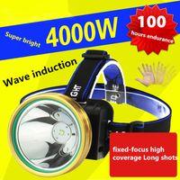 lámparas led de largo alcance al por mayor-Faros LED de luz fuerte lámpara de minero de inducción Luces de pesca carga faro de largo alcance Lámpara de cabeza impermeable