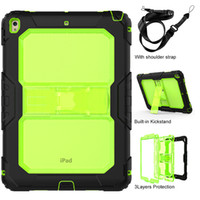 Wholesale ipad clear silicone case online – custom Kids Safe Silicone Clear Back Case with Nylon Shoulder Strap for iPad Air New iPad Pro Tablet