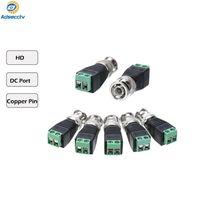 camaras bnc al por mayor-Coaxial CAT5 a la cámara CCTV BNC Adaptador de cable de video Balun Conector DC conector CCTV Accesorios de seguridad