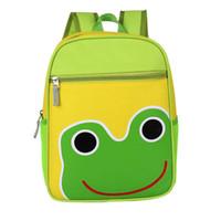ingrosso zaini dei bambini gialli-Vbiger Kids Backpack Adorable Kids School Bag Canvas Zaino prescolare con Cute Yellow Duck Pattern per bambini della scuola materna