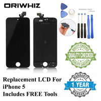 Wholesale iphone 5c screen covers - 1PCS Acceptable For Apple iPhone 5C 5S 5G Black Display LCD With Touch Screen Digitizer Replacement & Frame Cover & Open Tools AAA Free Ship