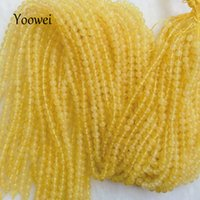 Wholesale Natural Amber Necklaces - Yoowei Natural Amber Loose Beads 3.7mm 5mm Baltic Yellow Honey Round Good Quality Bead for Diy Jewelry Bracelet Necklace Making
