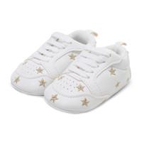 polka dot säugling weichen schuhe großhandel-Neugeborenes Baby Mädchen Schuhe Polka Dots weiche Baumwolle Kleinkind Krippe Infant Little Kid Sohle rutschfeste erste Wanderer