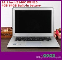 Wholesale Notebook Slim China - wholesale 14.1 inch ultrabook slim laptop computer Itel Atom X5-Z8300 Z140C Quad-core laptop 4GB 64GB WIFI Windows 10 laptop notebook