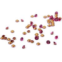 diamantes sueltos pedrería al por mayor-80gram / lot (about288pcs) Rhinestone Gema Flatback Apical Forma de círculo Negro Rojo Rosa-rojo Color Cristal Perlas de diamante sueltas para ropa