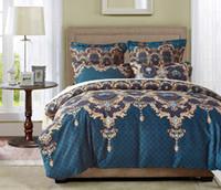 ingrosso cuscini di dimensioni queen-Biancheria da letto in stile europeo di lusso 3 pezzi Set Biancheria da letto Copripiumino Federa Queen e King Size