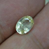 gelbe saphirsteine großhandel-CGJ-Zertifizierung 2,26 ct no Angabe der thermischen Verbesserung Natural unbeheizten gelben Saphir Stein lose Edelsteine