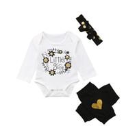 Conjunto de ropa de niña recién nacida Conjunto de manga larga Body Tops  Calentadores de pierna Trajes de diadema 0-2 años 212ff5bb3823