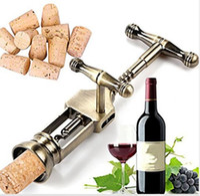 Wholesale multifunction gadgets resale online - Professional Zinc Alloy Red Wine Opener Multifunction Portable Rotary Screw Corkscrew Wine Bottle Opener Cook Tools Bar Gadget