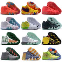 Wholesale 2018 Fall Irving Basketball Shoes for Cheap Sale Kyrie Sneakers Sports Mens Shoe Wolf Grey Team Red Trainers BasketBall Shoes Size