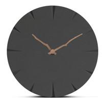 ingrosso orologi da parete moderni-Europa Orologio da parete in legno Moderno e minimalista Soggiorno Orologi appesi Comò a mano Muto Orologio in legno Home Decor Orologio creativo