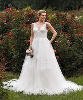 adbdaf75d2b3 Abito da sposa scontato bianco Semplice Vintage Sweetheart Principessa A  linea Cenerentola Abito da sposa manica lunga online