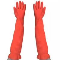 ingrosso guanti di gomma lunghi di pulizia-Guanti per la casa impermeabile Guanti per lavastoviglie Guanto per l'acqua Pulire la polvere Guanti di gomma lunghi Lavori domestici Utensili da cucina
