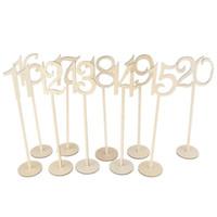 ingrosso eventi banchetti-Creativo fatto a mano ornamento con base di supporto in legno tavolo numero artigianato per la festa di compleanno di compleanno decorazioni per banchetti evento 30am BB