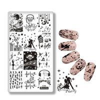 tırnak basma plakaları toptan satış-Mezerdoo Bale Dancer Desenler Nail Art Damga Damgalama Seti Müzik Stil Görüntü Tabaklar DIY Dekorasyon Tırnak Şablonları Şablon C05
