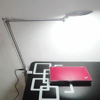 dc mal großhandel-LED Beauty Eye Beauty Wimpern Büro Studie 3 Helligkeit klappbare Schreibtischlampe 8-fach Lupe Lampe Schlafzimmer Armclip Tischlampe