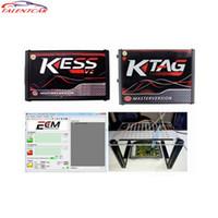 Wholesale obd2 auto scanner launch for sale - Group buy Online EU V5 Kess OBD2 Manager Tuning Kit Red KTAG V7 No TokenMaster V2 ECU Key Programmer Transponder Diagun auto scanner tool