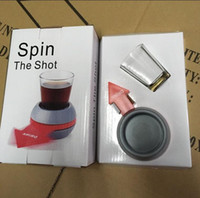 Wholesale Wheel Barring - Novely Spin The Shot Glass Turntable Toys Drinking Game Shot Glass With Spinning Wheel Bar Wine Games Party Favors 100pcs