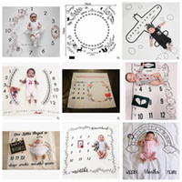 Wholesale newborn photography backdrop wholesale for sale - 100cm INS Number Photography Blankets Newborn Baby Flower Wrap Background Props Photo Prop Backdrops Easter Infant Soft Blanket AAA1004