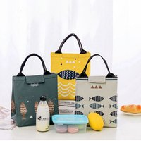 Wholesale fish candy - 4 Colors Fish 20x17x23cm Insaluted Lunch Box Bags Dinner Plate Sets Handbags Travel Gadgets Closet Organizer Kitchen Accessories Home Decor