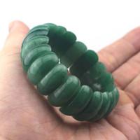 ingrosso pietra preziosa di giada verde-braccialetto verde naturale della pietra preziosa della pietra preziosa del braccialetto dei branelli della pietra della giada aventurine naturale per la donna per il commercio all'ingrosso del regalo!