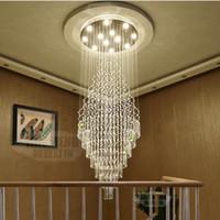 Wholesale Ceiling Designs Bedroom - Modern LED Pendant Light Art Design Living Room Dining Room Chandeliers Light K9 Crystal Fixtures AC110-240V Crystal Ceiling Lamps Lighting