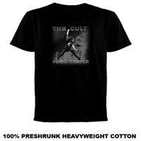 templo libre al por mayor-The Cult Sonic Temple T Shirt Cool orgullo casual camiseta hombres Unisex moda camiseta envío gratis tops divertidos