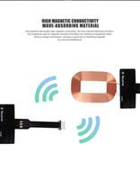 tragbare aufladeeinheit für iphone 5c großhandel-Beweglicher Qi Standard intelligenter drahtloser aufladenaufladeeinheits-Spulen-Empfänger für iPhone 5 5C 5S 6 6S 6 Plus 6S Plus 7 7 Plus Freies Verschiffen
