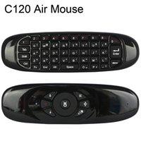 android computer für tv großhandel-C120 alle in einem 2,4 g Luft Maus wiederaufladbare drahtlose Fernbedienung Tastatur für Android TV Box Computer englische Version r25